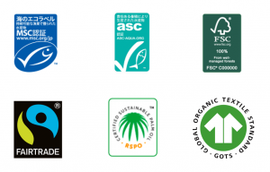 Earth Mall with Rakuten boasts a wide selection of sustainable products — notably products with internationally recognized sustainable certifications.