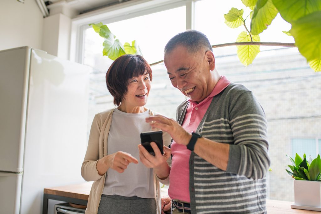 Over half of Japanese people in their 60s own smartphones as of 2018.