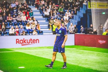 """Headlined by Lukas Podolski and sponsored by Rakuten, the """"Schauinsland-Reisen Cup 2019 – Kicking for a good cause,"""" raised money for underprivileged youth."""