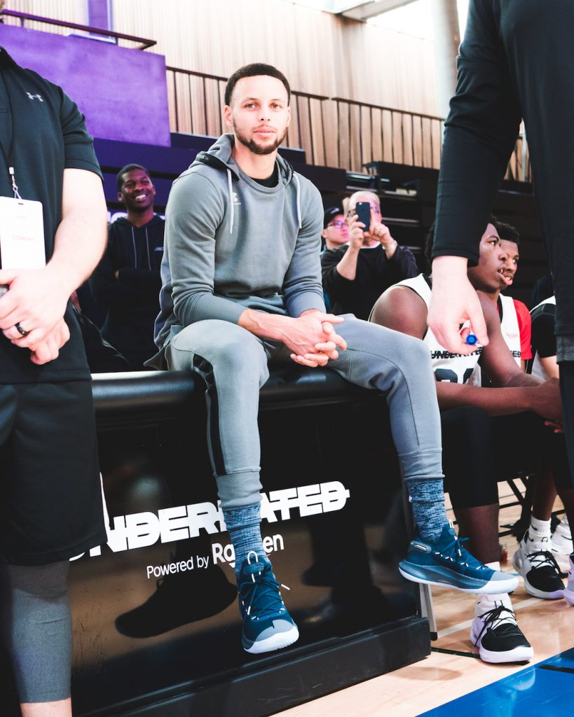 """It's not about what others say you can't do. It's about the work that you put it and the attitude that you have,"" Stephen Curry shared with athletes at the event."