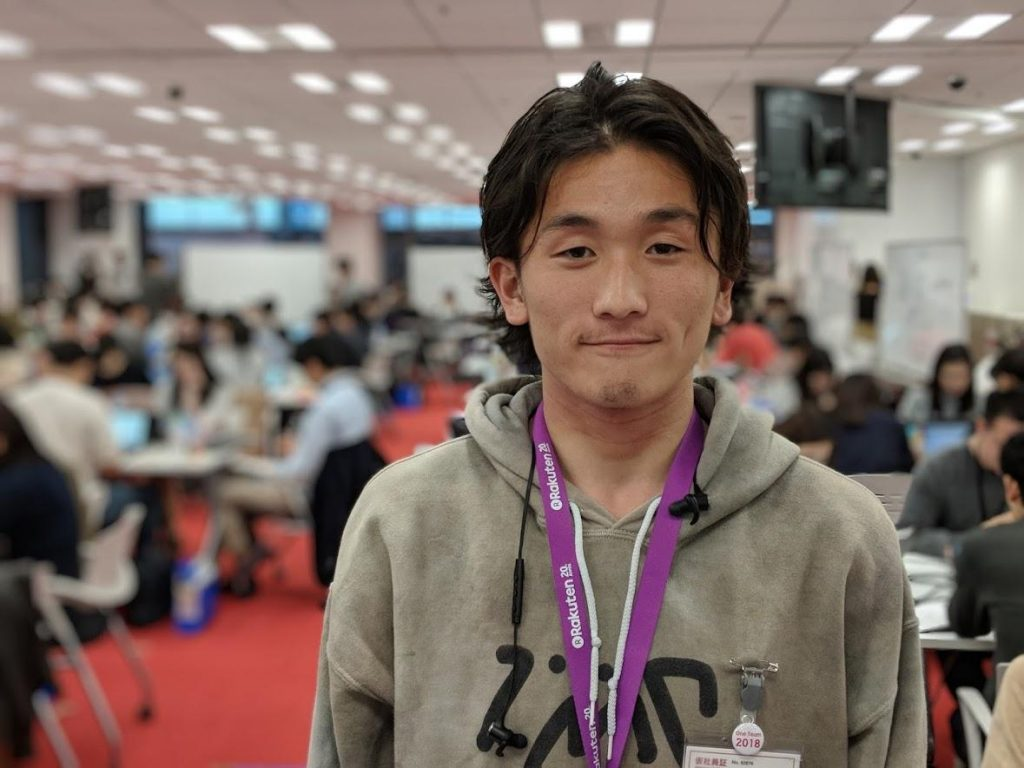 """I had a suspicion that we might be doing something like this, and I felt quite lucky when I found out it was true. Coding was something I knew I had to learn at some point,"" explained new Rakutenian Itsuki Kaji."