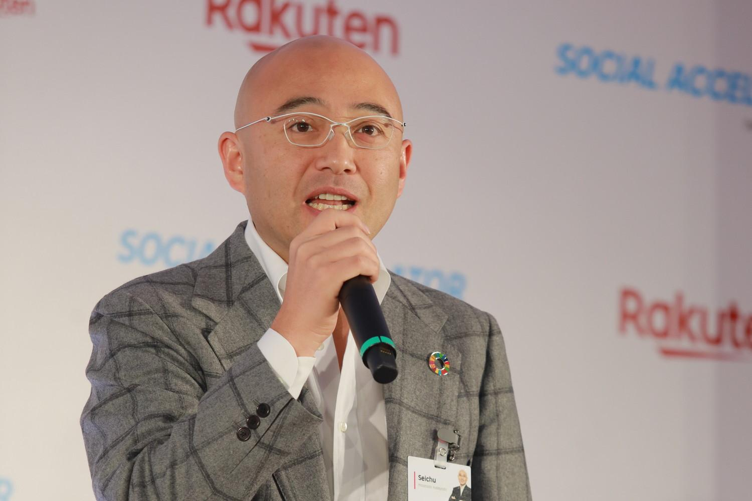 """If we can tackle social issues through business, we can ensure that the solution is sustainable,"" said Rakuten co-founder and Chief People Officer Masatada ""Seichu"" Kobayashi at Rakuten Social Accelerator Demo Day."