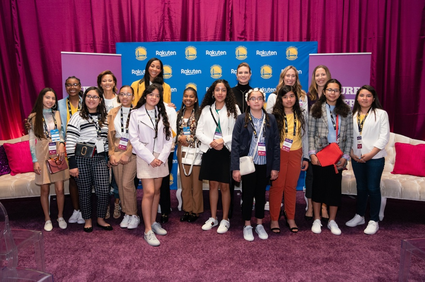 Girls Inc. participants were treated to an all-star panel discussion featuring WNBA legend Candace Parker; Stephen's mom, Sonya Curry; chief operating officer of Ebates, Adrienne Down Coulson; and head coach for the University of California women's basketball team, Lindsay Gottlieb.