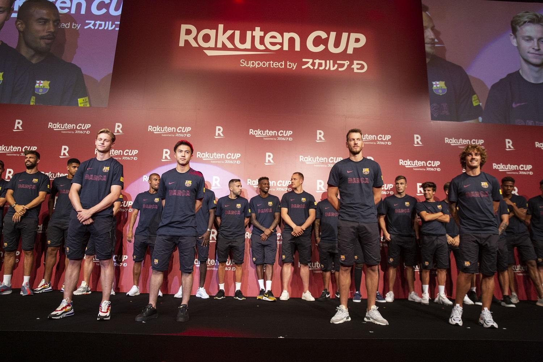 「Rakuten CUP」がいよいよキックオフ!「FCバルセロナ」の豪華プレイヤーたちがレセプションパーティに集結
