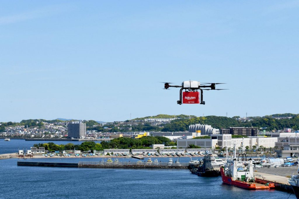 The entire operation—takeoff, flight, landing, delivery and return—is performed autonomously.