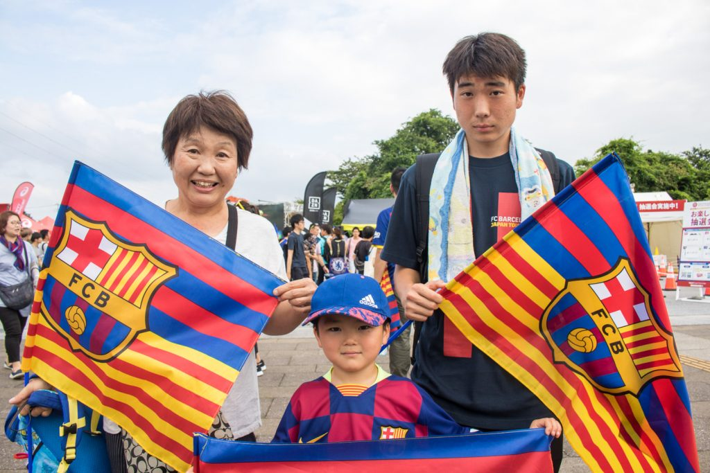 """We've been supporting Barcelona for many, many years but it's our first time to see them actually playing so we're super excited,"" said Hatsue Kaneko, who was with her two grandsons."