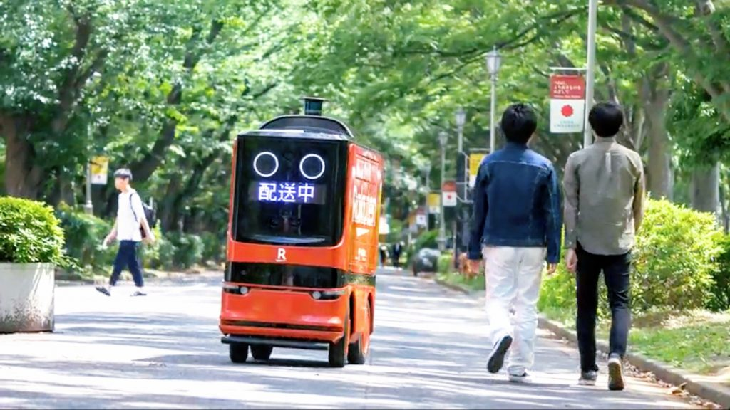 The robot was able to sense and avoid pedestrians on the bustling university campus.