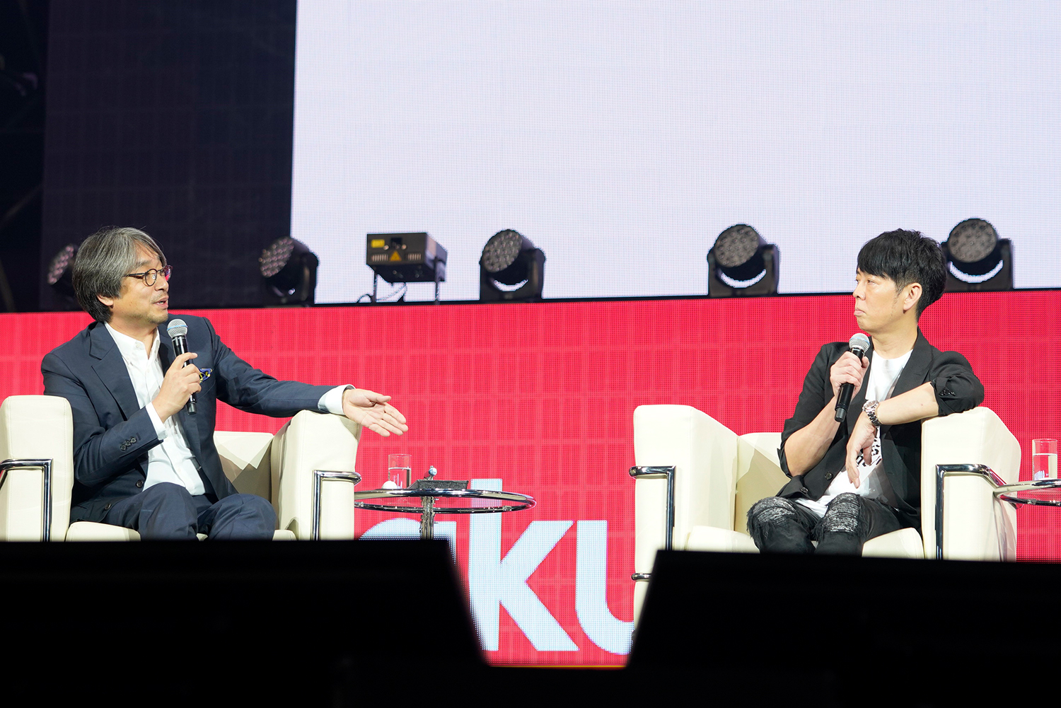 Two of Japan's most iconic creators, Kundo Koyama and Kashiwa Sato, shared the stage at Rakuten Optimism in Yokohama last month for a discussion on branding
