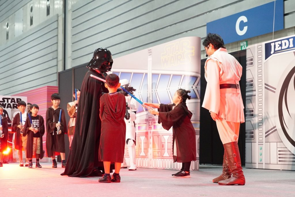 At the Star Wars Jedi Academy, kids aged 5-12 had the chance to become a padawan learner, honing their (balloon) lightsaber skills with the help of a Jedi Master.
