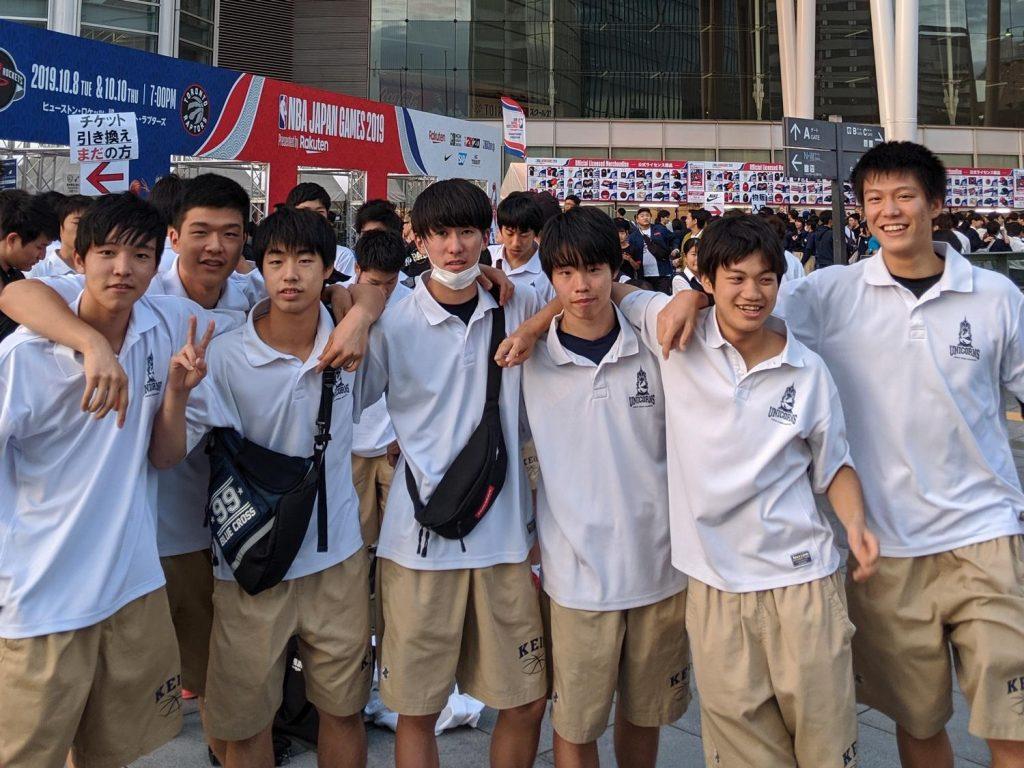 Keio Senior High School brought their entire basketball club to NBA Fan Night Japan.