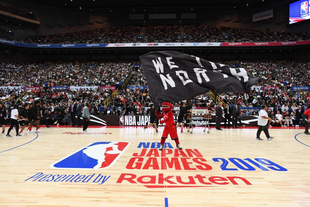 The Raptor's cheeky performances never failed to get a reaction from the Japanese crowd.