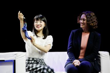 Marie Kondo shares sock folding methods, details of her partnership with Rakuten and the central tenants of her KonMari Method™ at Rakuten Optimism.