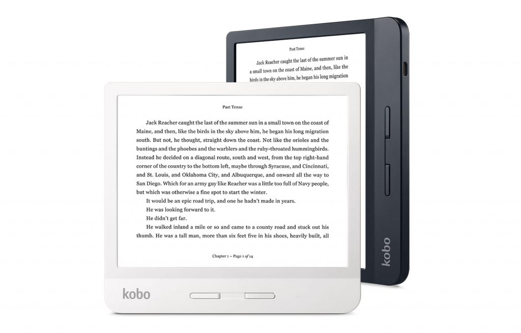Research and customer insights were the inspiration for our latest device, the Kobo Libra H2O, which strikes the perfect balance of form and function — it's waterproof; light, at just 192 grams; ergonomic, with page-turn buttons; easy on the eyes with blue light reducing Comfort Light Pro technology; one-touch buy or borrow for the easiest access possible to our catalogue of 6 million eBooks and library book